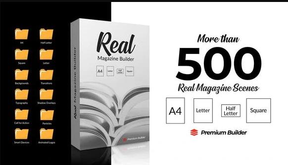 AE脚本/模板-500种真实三维书籍杂志图文排版介绍宣传册动画